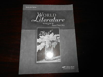 Abeka World Literature Fourth Edition Student Text 10th Grade