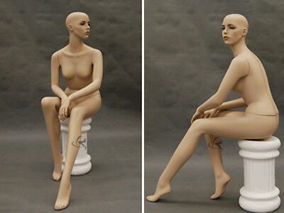 Female Mannequin With sitting stool Dress Form Display #9020-MD