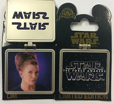 Disney Parks Star Wars The Force Awakens Carrie Fisher as General Leia LE Pin