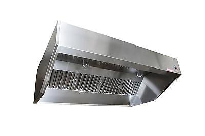 7ft SND-2 Series Stainless Steel Sloped Wall Canopy Hood