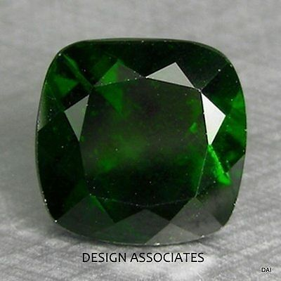 Chrome Diopside 12 Mm Cushion Cut   Russian Green Collector Stone