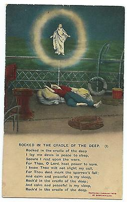 """BAMFORTH - """"ROCKED IN THE CRADLE OF THE DEEP"""" Song Card  4556.1"""