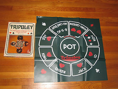 Cadaco Tripoley 111 Deluxe Edition 1969  Box and Mat only