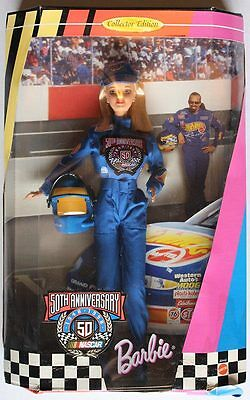Barbie Doll NASCAR 50th Anniversary 20442 Collectors Edition 1998 Hot Wheels
