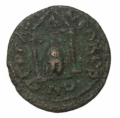 Aurelian 270-275AD AE28 Perga Pamphylia Temple Of The Cult Roman Provincial Coin