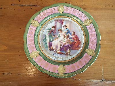 Royal Vienna Austria Beehive Mark Mother Lady & Child Cabinet Plate Nr