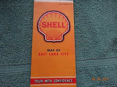 1940' Shell Oil Gas State of Illinois Road Map