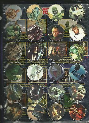Poland Star Wars Frito Lay SE Tazo Pogs complete set  of 50 + album 1997