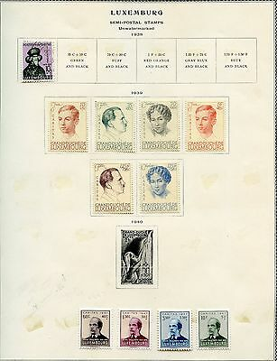 Luxembourg Selection  Ii Of  Mint Hinged And Used  Stamps  As Shown