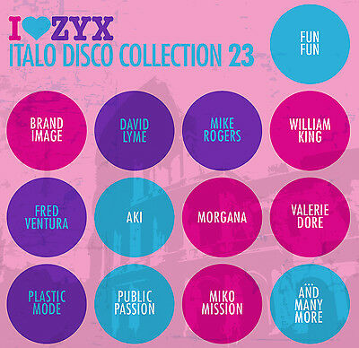 CD ZYX ITALO DISCO COLLECTION 23 by Various Artists 3 CDs
