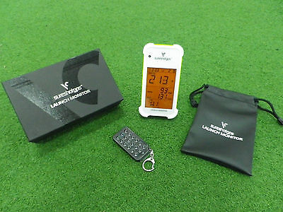 SURESHOT Portable LAUNCH MONITOR - White - Perfect for Practice & Play