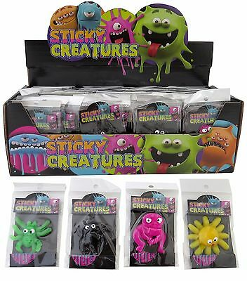 Bulk Lot x 20 Mixed Small Sticky Creatures Packaged Party Favor Novelty Toys