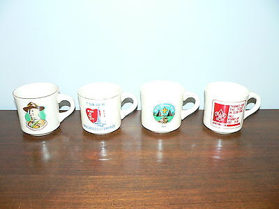 Lot of 4 Different Boy Scouts of America Commemorative Mugs~BSA
