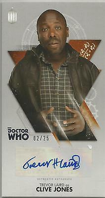 TOPPS DR. WHO THE TENTH DOCTOR ADVENTURES autograph card - TREVOR LAIRD #02/25