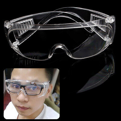 Clear Safety Vented Goggles Eye Protection Protective Lab Anti Fog Glasses PE
