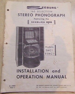 Seeburg Jukebox Models Smc1 Esmc1 Instruction Manual