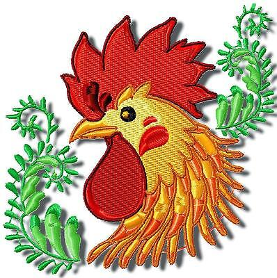 ROOSTERS 10  MACHINE EMBROIDERY DESIGNS CD 2 sizes