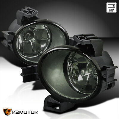 Smoke Fog Lights Bumper Lamps+Switch+Bulbs For 2005-2006 Nissan Altima