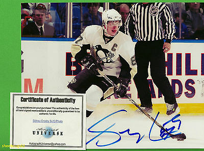 SIDNEY CROSBY, Autograph 8x10 Photo, Pittsburgh Penguins with COA