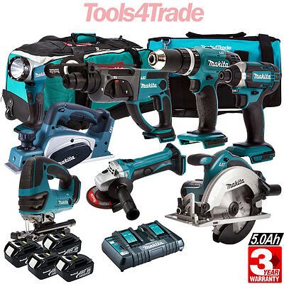 Makita 18V LXT Cordless Li-Ion 8pcs Monster Kit With 4 x 5.0AH BL1850, DC18RD