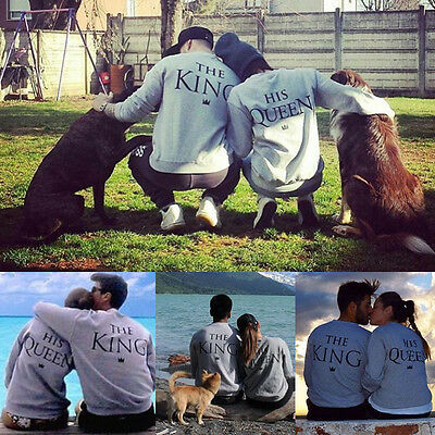 Couple T-Shirt The King and His Queen- Love Matching Shirts - Couple Tee Tops WX