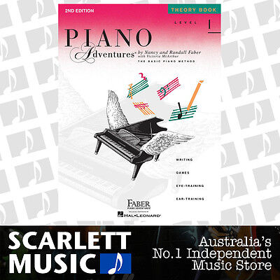 Piano Adventures 2nd Edition - Theory Book Level 1 Faber *BRAND NEW*