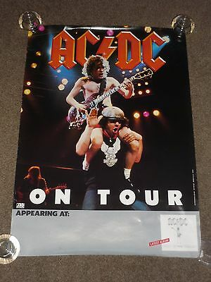 """AC/DC """"Flick Of The Switch"""" 1983 US Tour Promo Poster"""