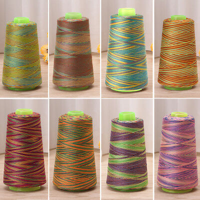 Colorful 3000yrd Sewing Machine Threads Overlocking String Polyester All Purpose