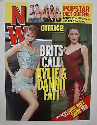 """KYLIE MINOGUE AUSTRALIAN NW POSTER FROM 2000: """"Brits Call Kylie & Danni Fat!"""""""