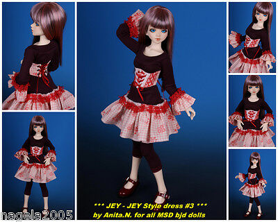 ☆~JEY-JEY style ROSA~☆special 3pc.outfit☆[Unoa/Narae]☆BJD doll MSD☆by Anita.N☆