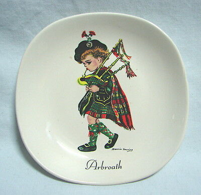 Brownie Downing Scottish bagpipes Arbroath jam dish butter pat Weatherby