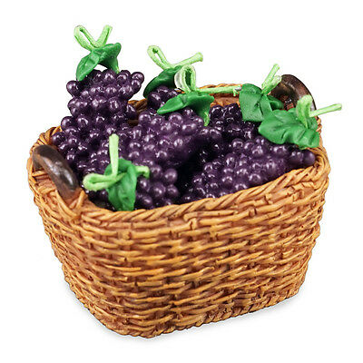 Reutter Porzellan Grape Basket/Basket of Fresh Grapes Dollhouse 1:12 -1.768/5