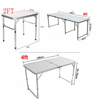 2/4/6FT Outdoor Folding Table Desk  Aluminium Camping Outdoor Picnic Party BBQ