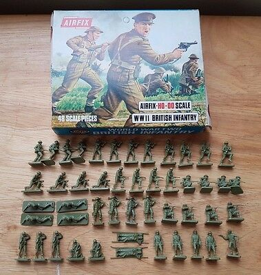 Airfix HO-OO 1/72 WWII British Infantry Plastic Figures x48 Boxed Set