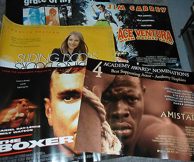 Job Lot: 9 x MINT condition - Original UK Quad Cinema Posters - 1990s