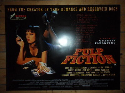PULP FICTION - Original MINT UK Quad Cinema Poster - QUENTIN TARANTINO - 1994