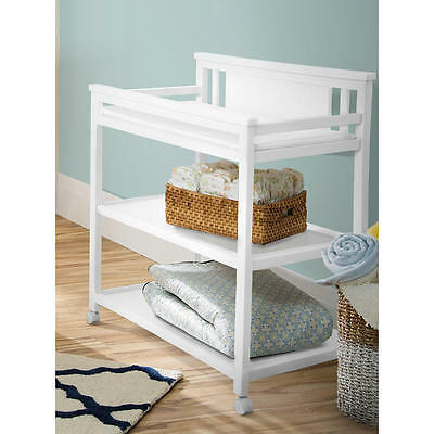 New Delta Children Bennington Changing Table - White Ambiance Model:16630026