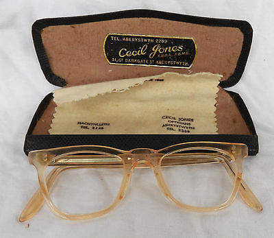 Vintage NHS Spectacle Frames & Case c1950s  - Child / Small Adult Size (A)