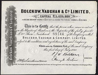 Bolckow, Vaughan & Co. Ltd., £20 Share, 1880