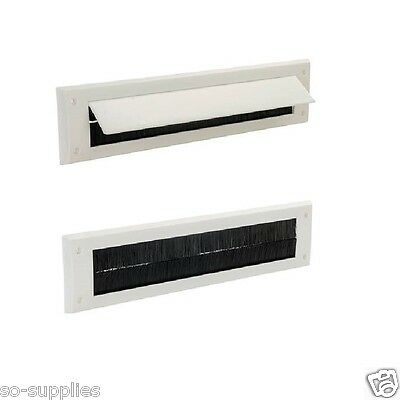 Letterbox Draught Seal White Letter Box Pvc Excluder Plate Flap Excluders Cover