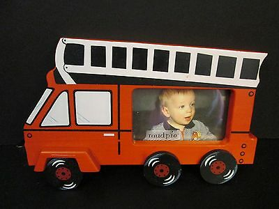 Mud Pie Little Dump Fire Truck Picture Frame, NWT