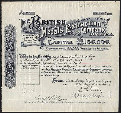British Metals Extraction Co. Ltd., 1913
