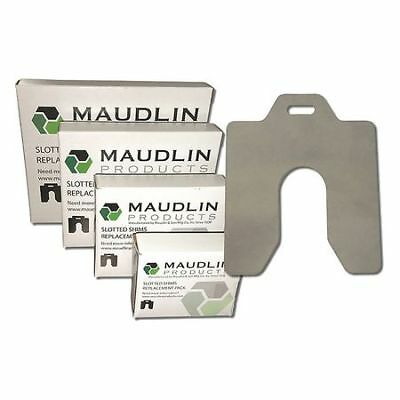 "MAUDLIN PRODUCTS MSE001 Slotted Shim E-6 x 6"" x 0.001"", Pk20"