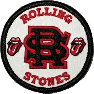 The Rolling Stones Rock Band Entwined Logo Embroidered Patch, NEW UNUSED
