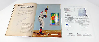 Ted Williams Signed Sports Illustrated The Science of Hitting JSA Auto