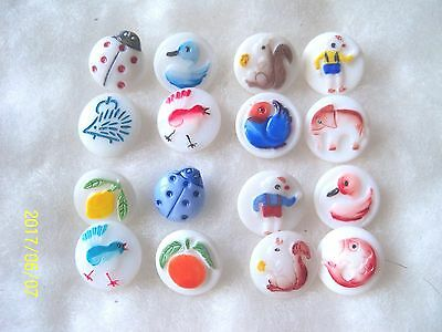 Reduced Czech Glass Buttons ( 16 Pcs) Baby Buttons Collect.dream 030