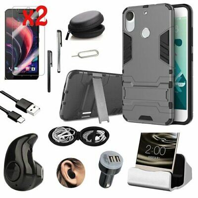 Kickstand Case Cover Charger Wireless Headset Accessory For HTC Desire 10 Pro