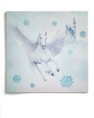 Fairytale Unicorn Glitter Canvas