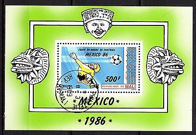 0145++Mali   Bloc Coupe Du Monde De Foot Mexico 86