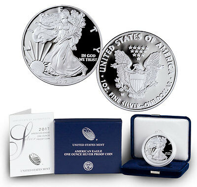2017-W Proof American Silver Eagle Coin In (Original Mint Packaging) SKU45265